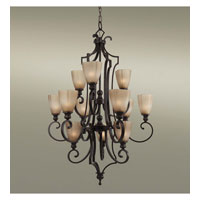 Feiss Russell 12 Light Chandelier in Pecan F2551/12PCN alternative photo thumbnail
