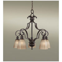 Feiss Russell 5 Light Chandelier in Pecan F2553/5PCN alternative photo thumbnail