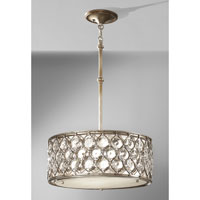 Feiss F2568/3BUS Lucia 3 Light 19 inch Burnished Silver Chandelier Ceiling Light in Standard