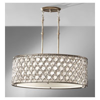 Feiss F2569/3BUS Lucia 3 Light 16 inch Burnished Silver Chandelier Ceiling Light