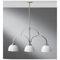 Feiss Perry 3 Light Linear Chandelier in Brushed Steel F2581/3BS