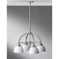 Feiss Perry 4 Light Chandelier in Brushed Steel F2582/4BS