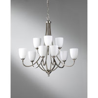 Feiss Perry 9 Light Chandelier in Brushed Steel F2585/6+3BS
