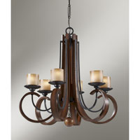 Feiss Madera 6 Light Chandelier in Antique Forged Iron and Aged Walnut F2590/6AF/AGW alternative photo thumbnail