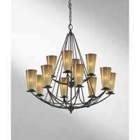 Feiss El Nido 12 Light Chandelier in Mocha Bronze F2605/8+4MBZ