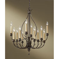 Feiss Emory 12 Light Chandelier in Heritage Bronze F2615/12HTBZ