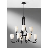 Feiss Peyton 9 Light Chandelier in Black F2625/6+3BK