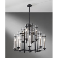 Feiss Ethan 12 Light Chandelier in Antique Forged Iron and Aged Walnut F2629/8+4AF/BS alternative photo thumbnail