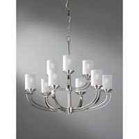 Feiss Finley 9 Light Chandelier in Polished Nickel F2633/6+3PN