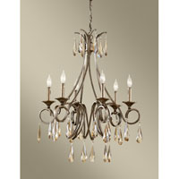 Feiss Reina 6 Light Chandelier in Gilded Imperial Silver F2636/6GIS