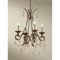 Feiss Reina 4 Light Chandelier in Gilded Imperial Silver F2637/4GIS
