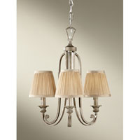 Feiss Abbey 3 Light Mini Chandelier in Silver Sand F2641/3SVSD