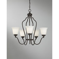 Feiss Beckett 5 Light Chandelier in Oil Rubbed Bronze F2650/5ORB