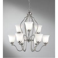 Feiss Beckett 9 Light Chandelier in Brushed Steel F2651/6+3BS