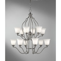Feiss Beckett 12 Light Chandelier in Brushed Steel F2652/6+6BS