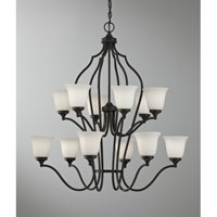 Feiss Beckett 12 Light Chandelier in Oil Rubbed Bronze F2652/6+6ORB