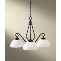 Feiss Merritt 3 Light Chandelier in Black F2655/3BK