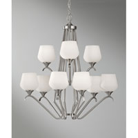 Feiss Merritt 9 Light Chandelier in Brushed Steel F2656/6+3BS