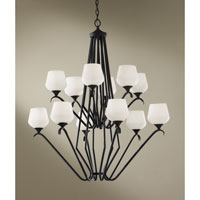 Feiss Merritt 12 Light Chandelier in Black F2657/6+6BK alternative photo thumbnail
