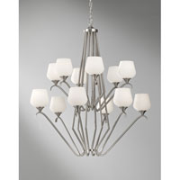 Feiss Merritt 12 Light Chandelier in Brushed Steel F2657/6+6BS