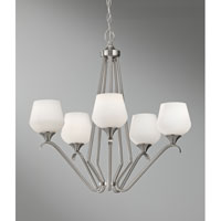 Feiss Merritt 5 Light Chandelier in Brushed Steel F2659/5BS