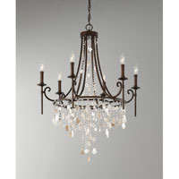 Feiss F2660/6HTBZ Cascade 6 Light 28 inch Heritage Bronze Chandelier Ceiling Light alternative photo thumbnail