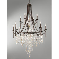 Feiss Cascade 12 Light Chandelier in Heritage Bronze F2661/8+4HTBZ