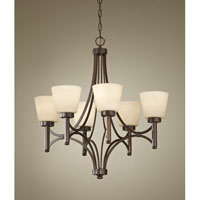 Feiss Nolan 6 Light Chandelier in Heritage Bronze F2670/6HTBZ