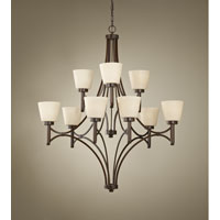 Feiss Nolan 9 Light Chandelier in Heritage Bronze F2671/6+3HTBZ alternative photo thumbnail