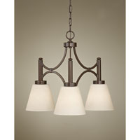 Feiss Nolan 3 Light Chandelier in Heritage Bronze F2672/3HTBZ
