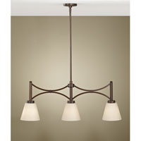 Feiss Nolan 3 Light Linear Chandelier in Heritage Bronze F2674/3HTBZ