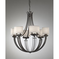 Feiss Brody 12 Light Chandelier in Colonial Iron F2677/12CI