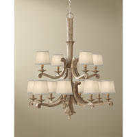 Feiss Blaire 12 Light Chandelier in Medium Aged Wood F2682/8+4MAW alternative photo thumbnail