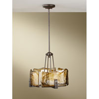 Feiss Aris 4 Light Chandelier in Roman Bronze F2691/4RBZ