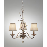 Feiss Priscilla 3 Light Chandelier in Arctic Silver F2695/3ARS
