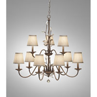 Feiss Priscilla 9 Light Chandelier in Arctic Silver F2696/6+3ARS alternative photo thumbnail