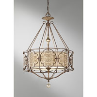 Feiss Marcella 3 Light Chandelier in British Bronze and Oxidized Bronze F2697/3BRB/OBZ