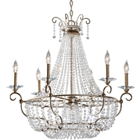 Dutchess 6 Light 30 inch Burnished Silver Chandelier Ceiling Light