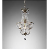 Feiss Dutchess 1 Light Mini Chandelier in Burnished Silver F2709/1BUS