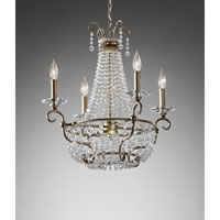 Feiss Dutchess 4 Light Chandelier in Burnished Silver F2710/4BUS