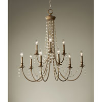 Feiss Aura 9 Light Chandelier in Rustic Silver F2711/9RUS alternative photo thumbnail