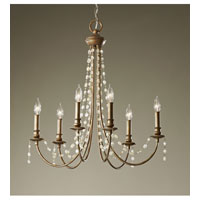 Feiss Aura 6 Light Chandelier in Rustic Silver F2712/6RUS