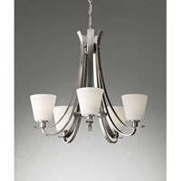 Feiss Spectra 5 Light Chandelier in Brushed Steel F2719/5BS