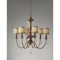 Feiss Clarissa 6 Light Chandelier in Firenze Gold F2722/6FG
