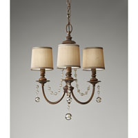 Feiss Clarissa 3 Light Mini Chandelier in Firenze Gold F2723/3FG