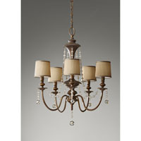 Feiss Clarissa 5 Light Chandelier in Firenze Gold F2724/5FG