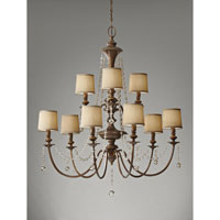 Feiss Clarissa 9 Light Chandelier in Firenze Gold F2725/6+3FG