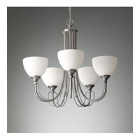 Feiss Morgan 5 Light Chandelier in Brushed Steel F2728/5BS