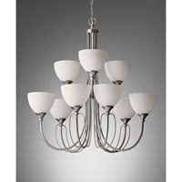 Feiss Morgan 9 Light Chandelier in Brushed Steel F2729/6+3BS alternative photo thumbnail