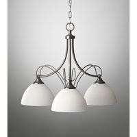 Feiss Morgan 3 Light Chandelier in Brushed Steel F2731/3BS